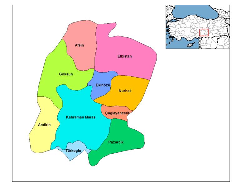 K Maras Turkey the southeast of Turkey